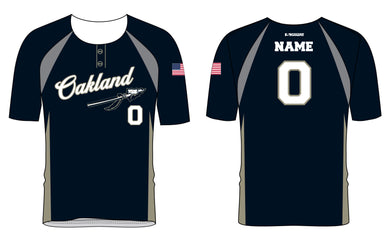 Braves Baseball Sublimated Two Button Jersey