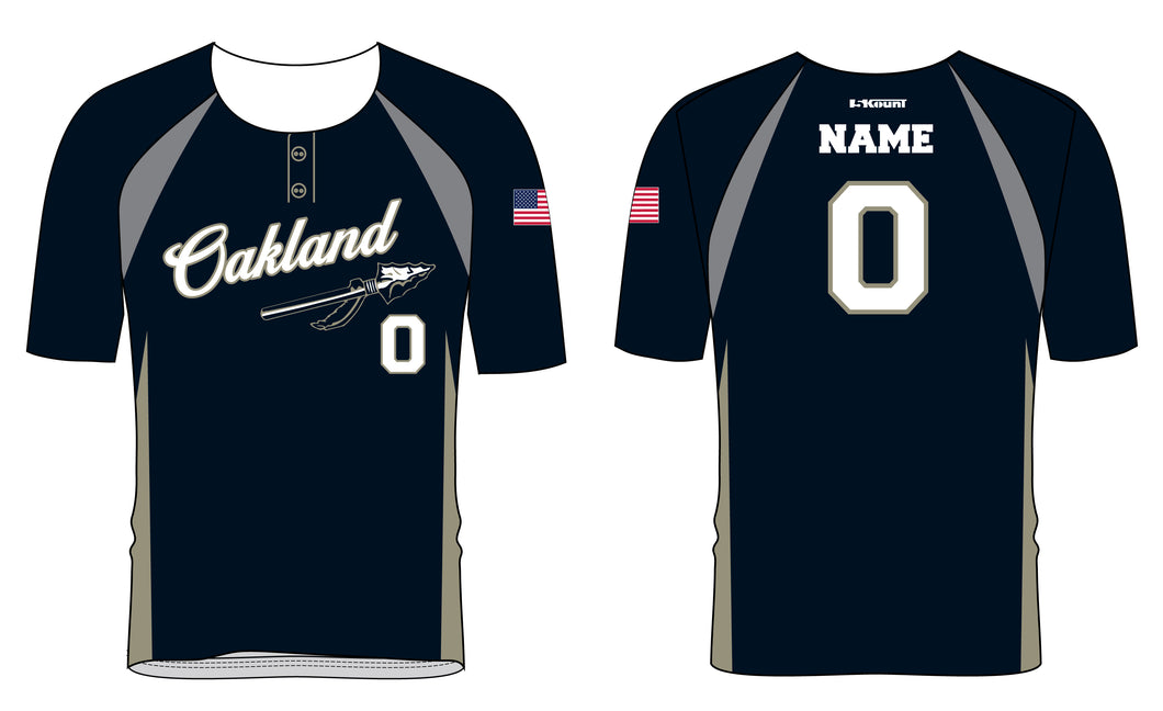 Braves Baseball Sublimated Two Button Jersey - 5KounT2018