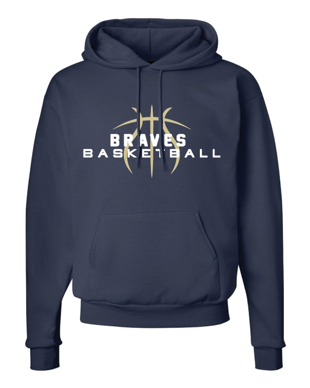 Braves Basketball Cotton Hoodie - Navy