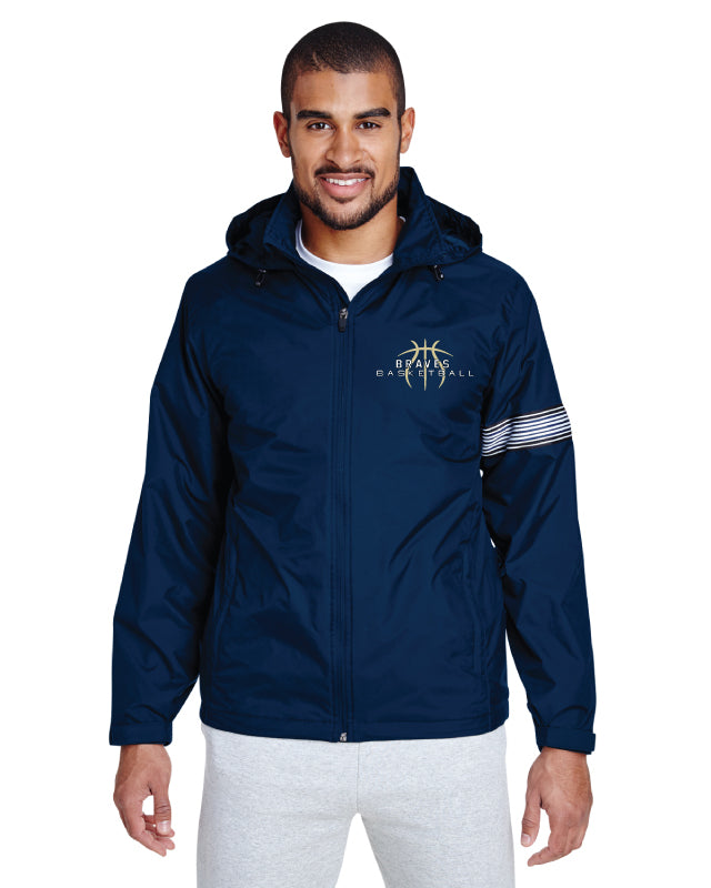 Braves Basketball All Season Hooded Jacket - Navy - 5KounT