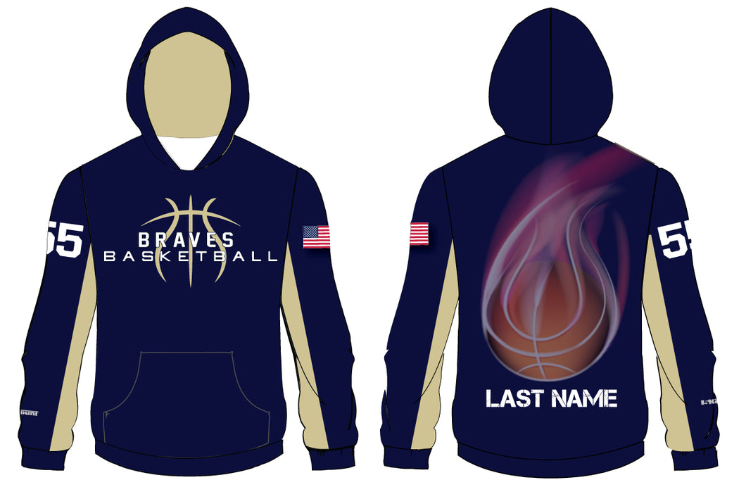 Braves Basketball Sublimated Hoodie - 5KounT2018
