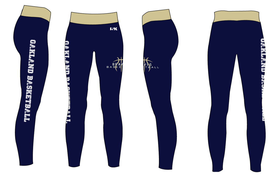 Braves Basketball Sublimated Ladies Legging