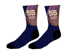 Braves Basketball Sublimated Socks - Navy - 5KounT