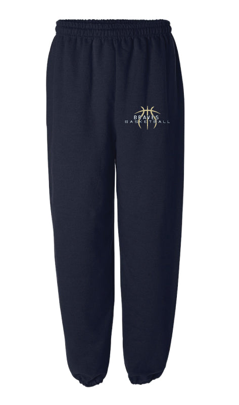 Braves Basketball Cotton Sweatpants - Navy