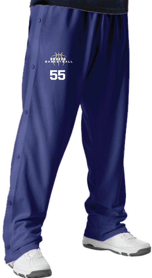 Braves Basketball Breakway Warm-Up Pants - Navy - 5KounT2018