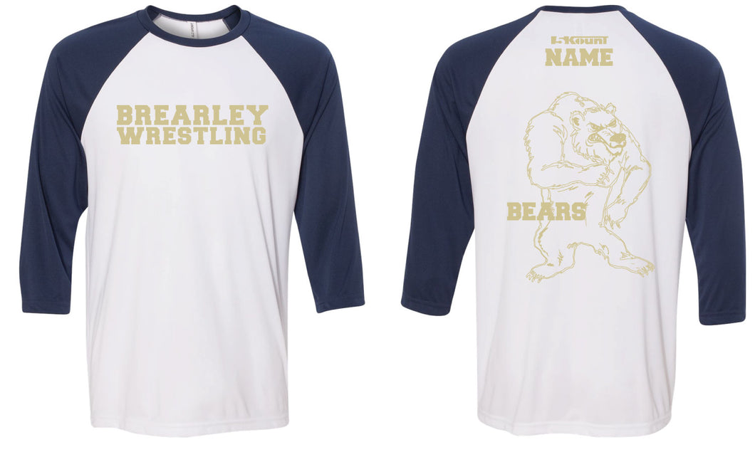 Brearley Wrestling Baseball Shirt