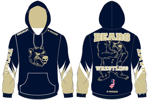 Brearley Wrestling Sublimated Hoodie - 5KounT2018