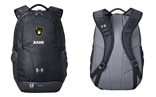 Brewers Baseball Under Armour Backpack - Black - 5KounT2018