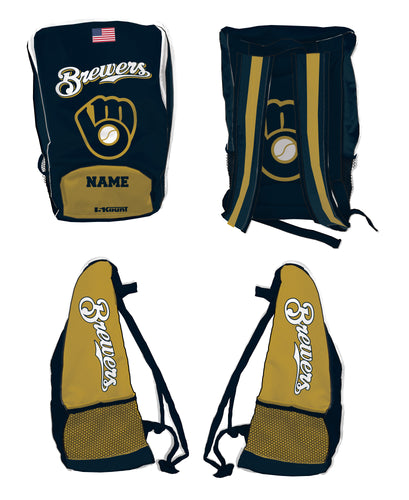 Brewers Baseball Sublimated Backpack - 5KounT2018