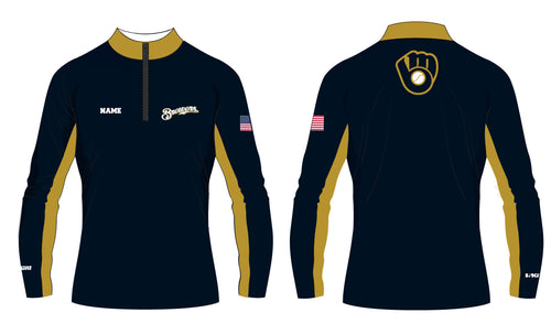 Brewers Baseball Sublimated Quarter Zip - 5KounT2018