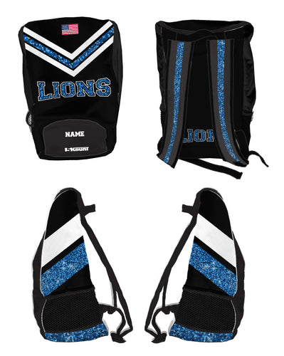Brick City Lions Cheer Sublimated Backpack