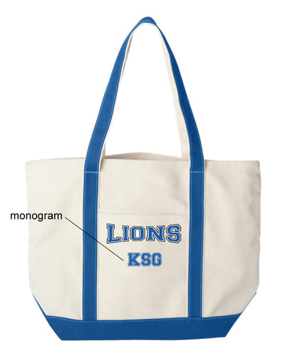 Brick City Lions Cheer Cotton Canvas Tote Bag