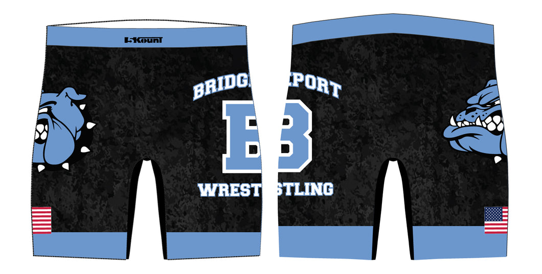 Bridgeport Wrestling Sublimated Compression Shorts - 5KounT