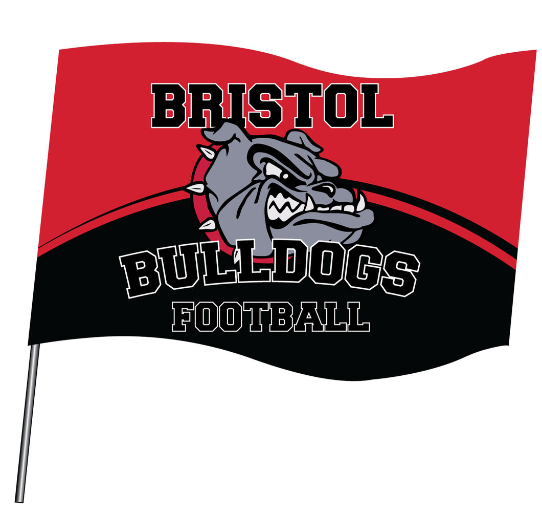 Bristol Jr. Football Sublimated Flag