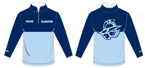 Bristol Gladiators Sublimated Quarter Zip - 5KounT2018