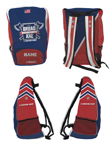 Broad Axe Wrestling Club Sublimated Backpack - 5KounT2018
