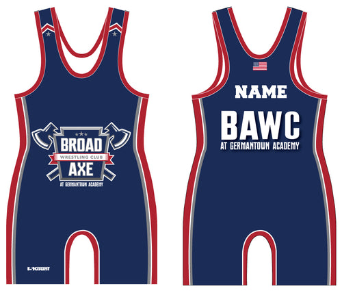 Broad Axe Wrestling Club Sublimated Singlet - Blue