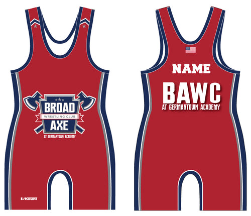 Broad Axe Wrestling Club Sublimated Singlet - Red