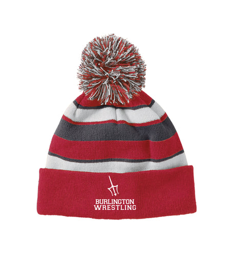 Burlington Wrestling Pom Beanie - Red