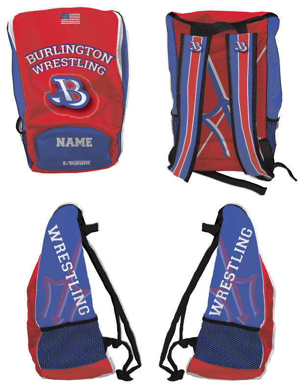 Burlington Wrestling Sublimated Backpack - 5KounT