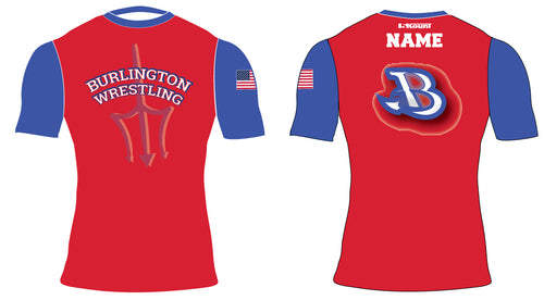 Burlington Wrestling Sublimated Compression Shirt