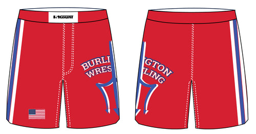 Burlington Wrestling Sublimated Fight Shorts