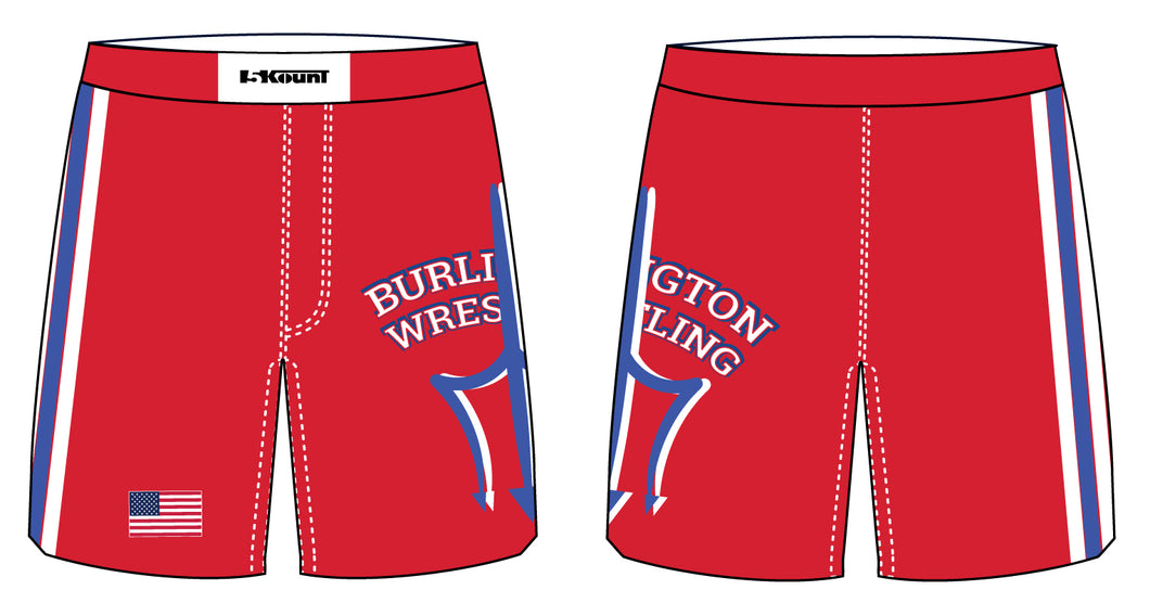 Burlington Wrestling Sublimated Fight Shorts - 5KounT2018