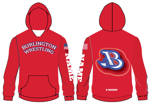 Burlington Wrestling Sublimated Hoodie
