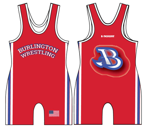 Burlington Wrestling Sublimated Singlet