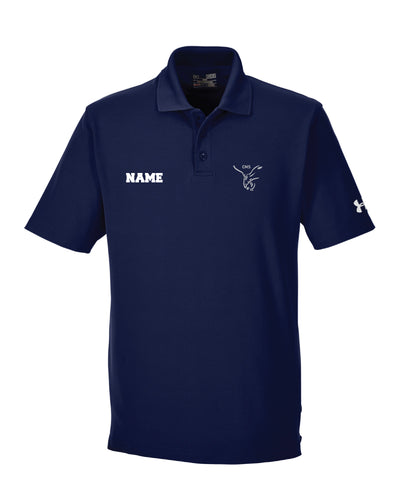 CMS Hawks Wrestling Under Armour Men's Corp Performance Polo - Navy - 5KounT2018