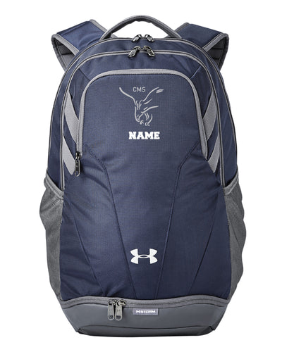 CMS Hawks Wrestling Under Armour Unisex Backpack - Navy - 5KounT2018
