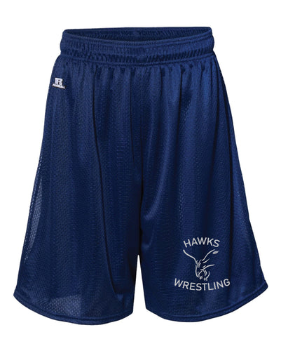 CMS Hawks Wrestling Russell Athletic  Tech Shorts - Navy - 5KounT2018