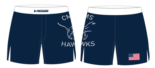 CMS Hawks Wrestling Sublimated Board Shorts - 5KounT