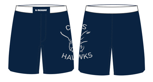 CMS Hawks Wrestling Sublimated Fight Shorts - 5KounT