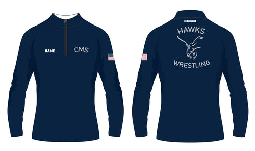 CMS Hawks Wrestling Sublimated Quarter Zip - 5KounT