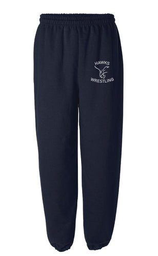 CMS Hawks Wrestling Cotton Sweatpants - Navy - 5KounT
