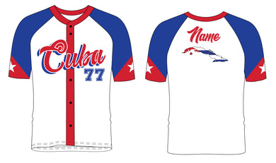 Cuba Baseball Sublimated Fan Jersey