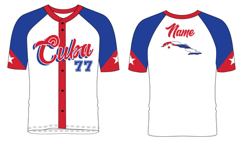 Cuba Baseball Sublimated Fan Jersey - 5KounT2018