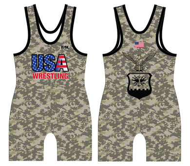 USA Wrestling Air Force Sublimated Men's Singlet - 5KounT2018