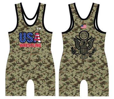 USA Wrestling Army Sublimated Men's Singlet - 5KounT2018