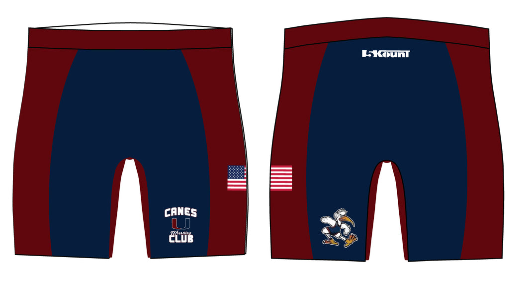 Canes Wrestling Club Sublimated Compression Shorts