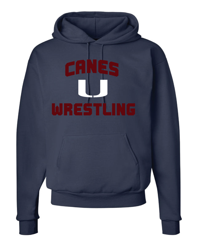 Canes Wrestling Club Cotton Hoodie - Navy