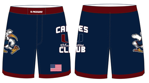 Canes Wrestling Club Sublimated Fight Shorts - 5KounT2018