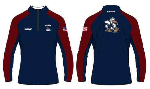 Canes Wrestling Club Sublimated Quarter Zip