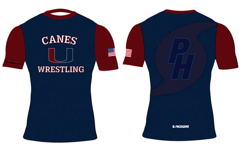 Palm Harbor Wrestling Sublimated Compression Shirt - 5KounT