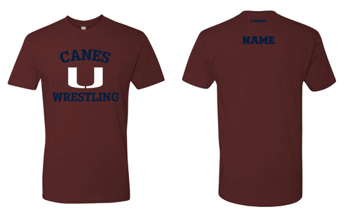 Palm Harbor Wrestling Cotton Crew Tee - Maroon