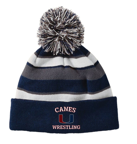 Palm Harbor Wrestling Pom Beanie