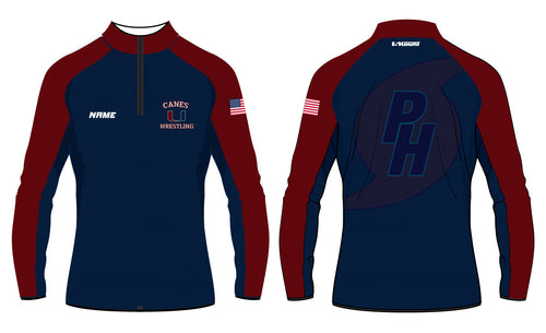 Palm Harbor Wrestling Sublimated Quarter Zip