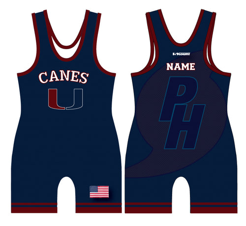 Palm Harbor Wrestling Sublimated Singlet - 5KounT