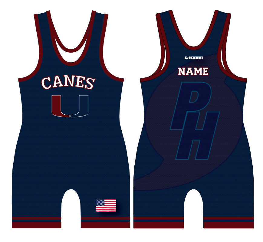 Palm Harbor Wrestling Sublimated Singlet - 5KounT2018